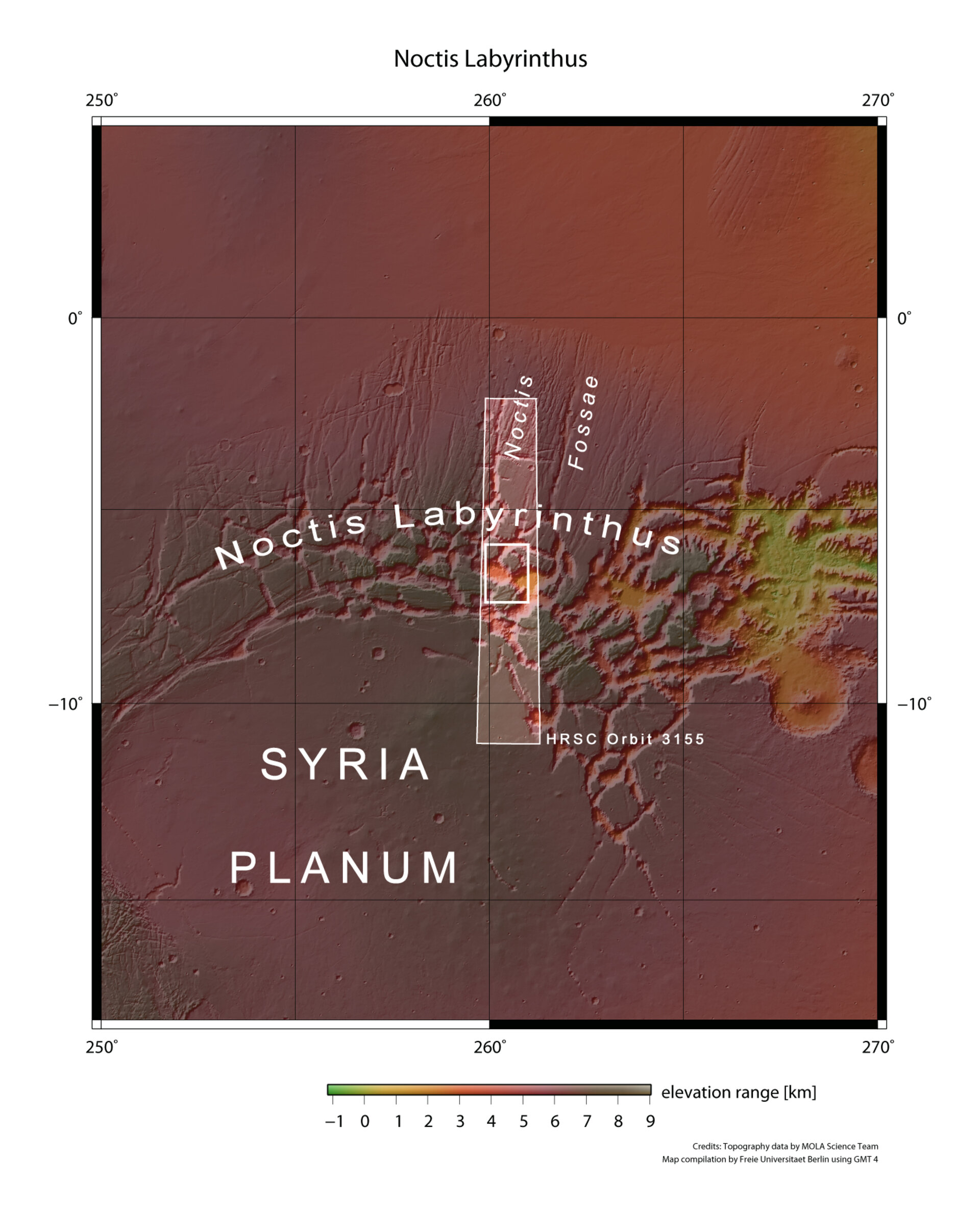 Noctis Labyrinthus context map