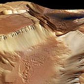 Noctis Labyrinthus, perspective view