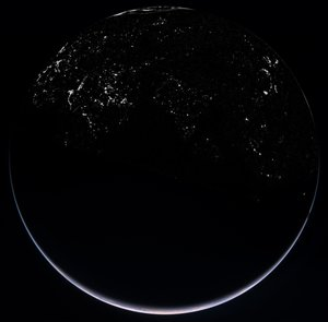 OSIRIS' view of Earth by night