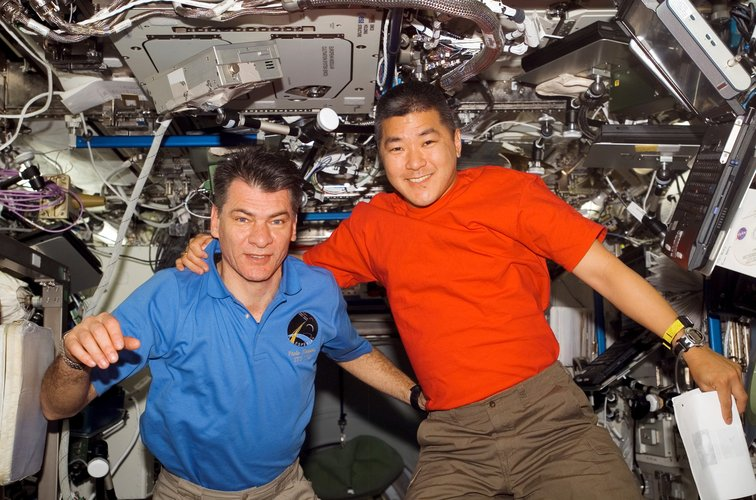 Paolo Nespoli and Daniel Tani