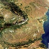 Romania, Danube Mouth - Envisat MERIS - 28 September 2003