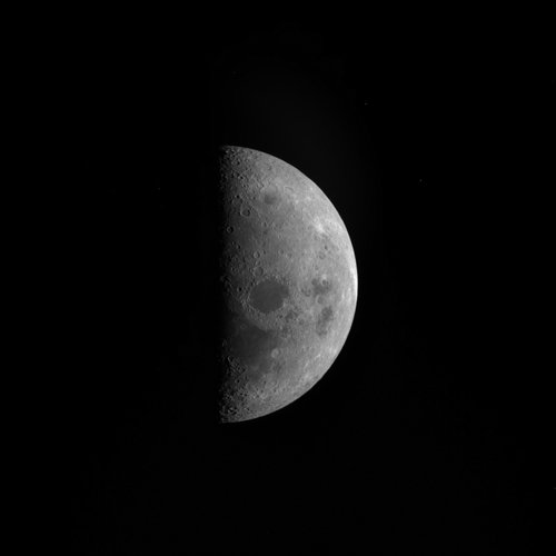 Rosetta image of the Moon