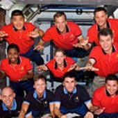 STS-120 and Expedition 16 crew inside Harmony