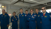 STS-122 mission crew during TCDT