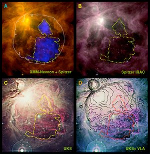 The Orion nebula in multiple wavelengths