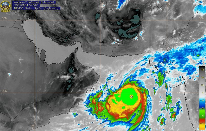 Tropical cyclone Gonu seen by Meteosat-7