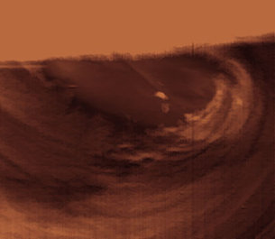Venus south polar vortex in false colour