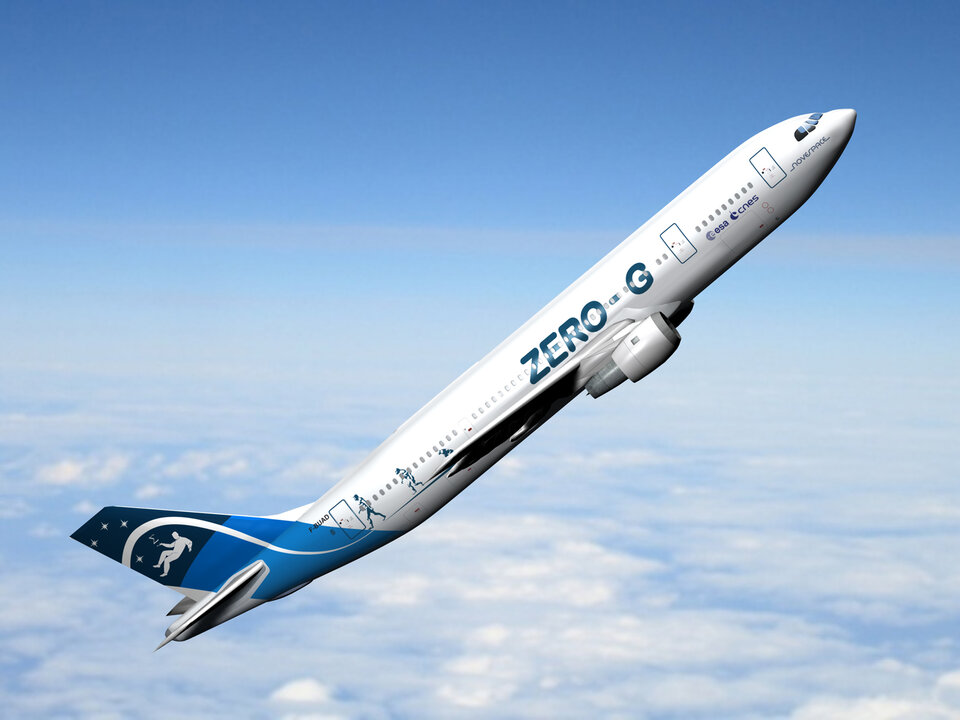 Zero-G Airbus A300 for parabolic flights