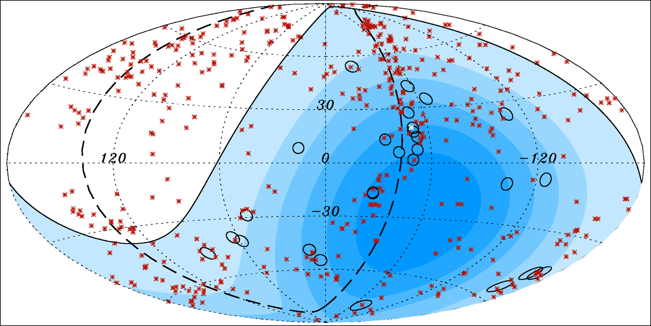 Auger optical map of highest energy cosmic rays