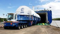 Cryogenic main core for ATV's launcher arrives in Kourou