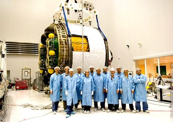 Members of the Jules Verne launch integration team at Europe's Spaceport