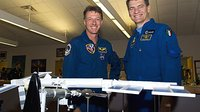 Foale and Nespoli at KSC
