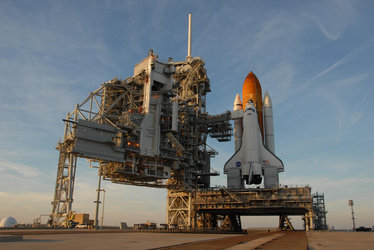 Mission STS-122: Space Shuttle Atlantis on Launch Pad 39A