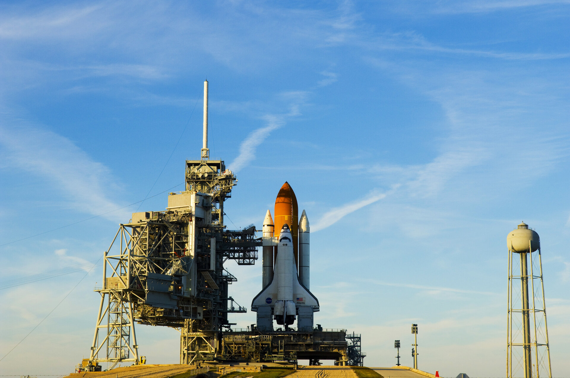 Space Shuttle Atlantis on the launch pad