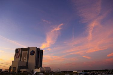 Sunset at NASA's Kennedy Space Center, Florida