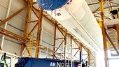 The main cryogenic stage for Ariane 5 ES arrives for integration