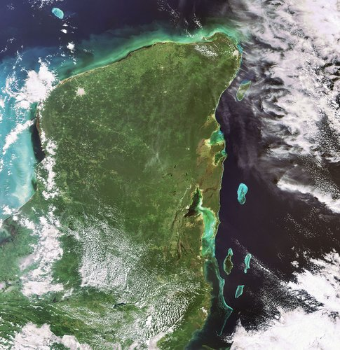 Yucatan Peninsula captured by Envisat