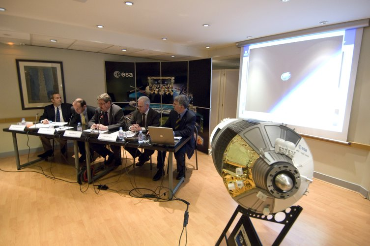 ATV press briefing at ESA Head Office, Paris