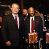 Gore and Pachauri (Credit: Heiko Junge/Nobels Fredssenter)