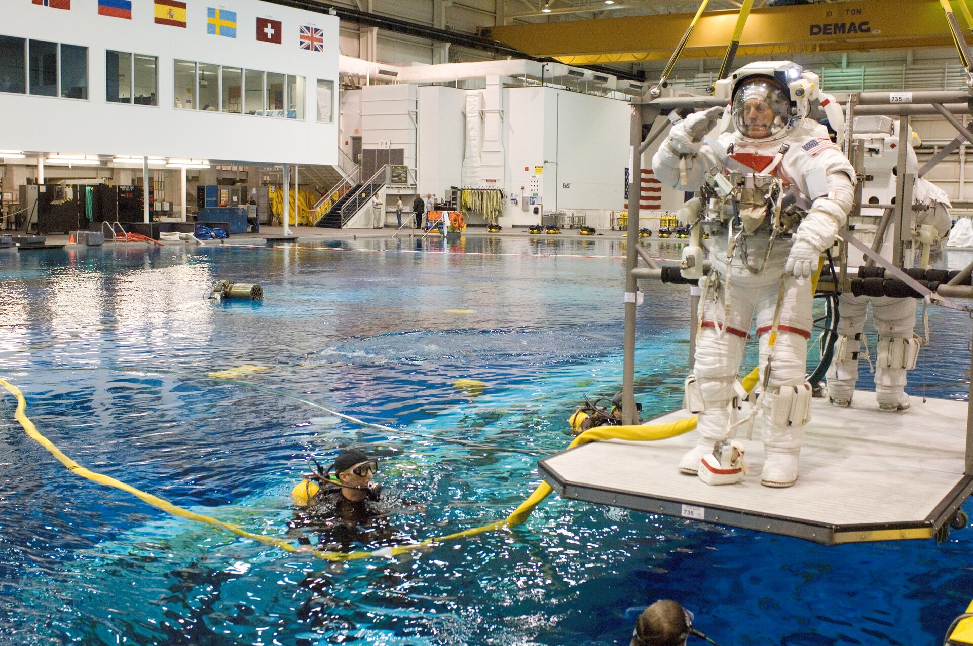 NASA's Neutral Buoyancy Laboratory in Houston