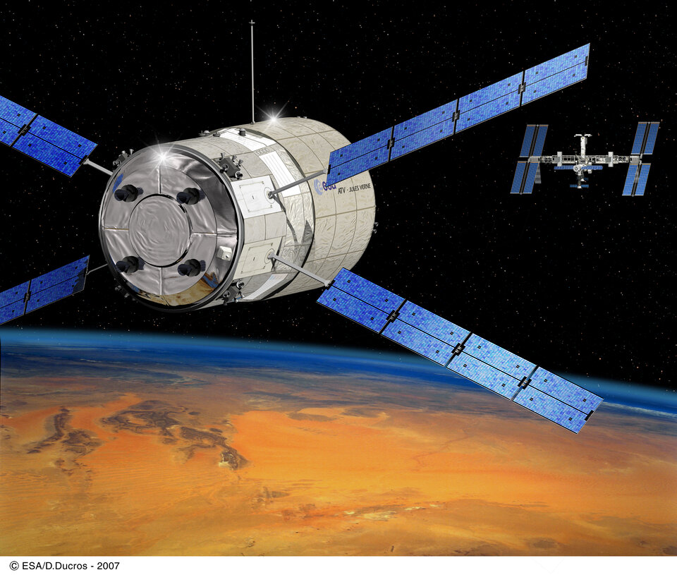 Jules Verne is set to dock with the International Space Station in early April