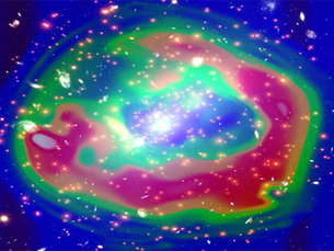 Shockwave travelling through galaxy cluster