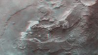 Terby crater, 3D view