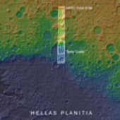Terby crater context map
