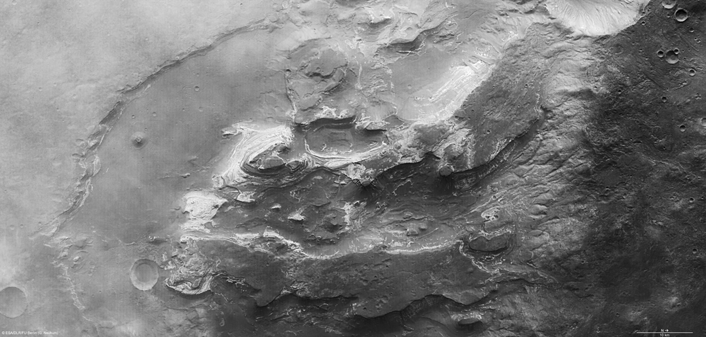 Terby crater, nadir view