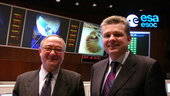 UK science minister in first-ever visit to ESA operations centre