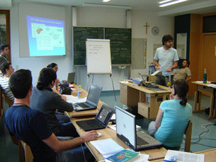 A discussion group at the 2007 Summer School