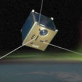 An artist's impression of the SwissCube student satellite