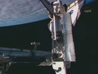Atlantis docked with ISS