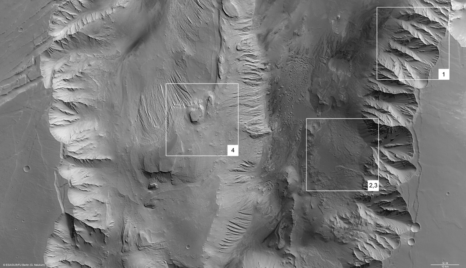 Candor Chasma, annotated nadir view