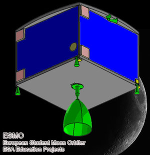 ESMO orbiting the Moon © Uni. Southampton