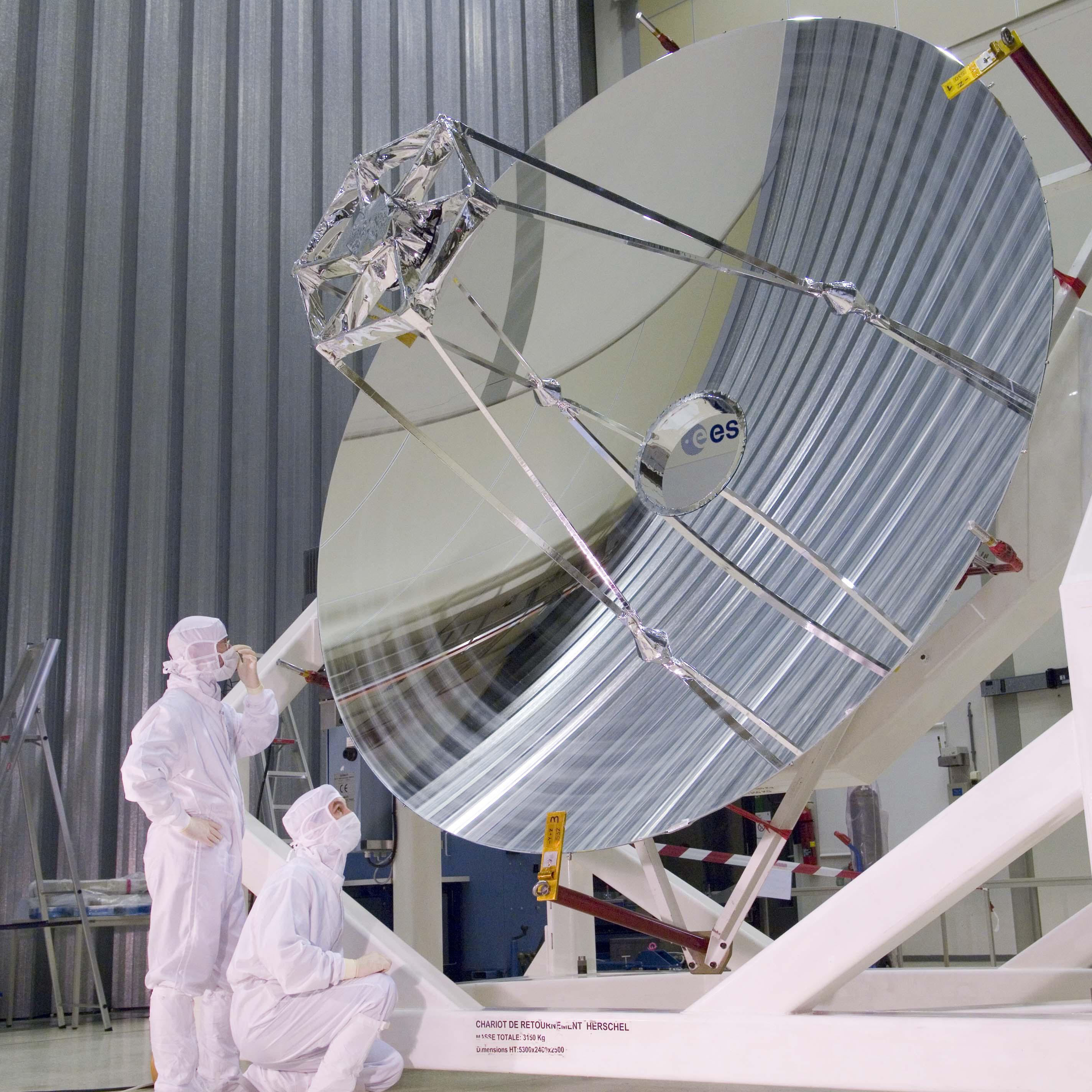 Herschel telescope mirror at ESTECHerschel Telescope