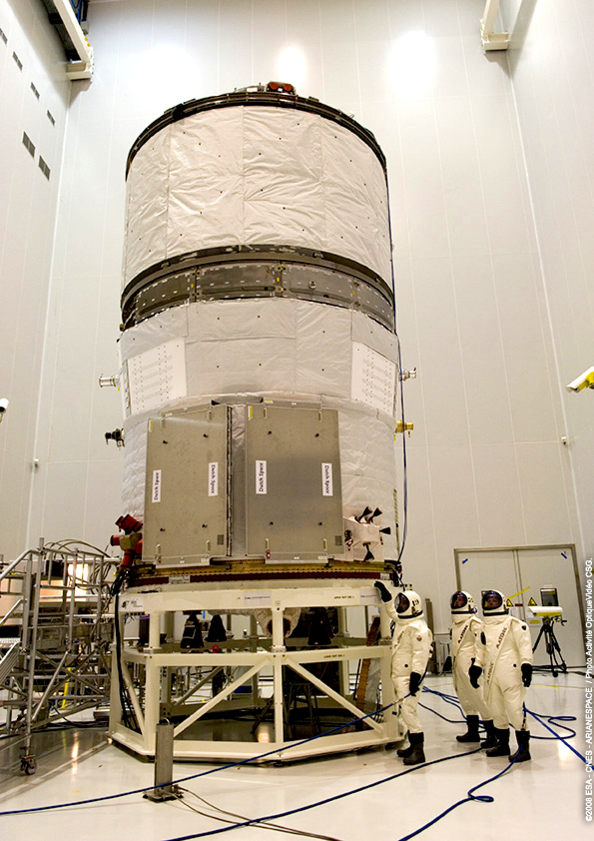 Jules Verne ATV fuelling operations at Europe's Spaceport in Kourou, French Guiana