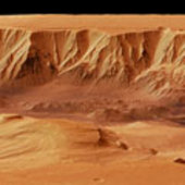 Perspective view of Candor Chasma