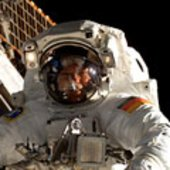 Hans Schlegel took part in his first spacewalk