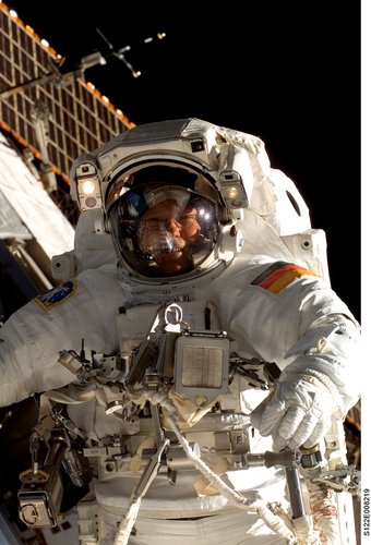 Schlegel's first spacewalk