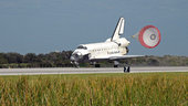 Space Shuttle Atlantis' lands at KSC