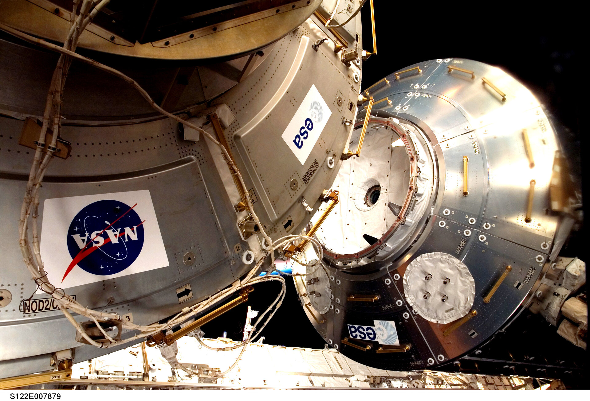 Columbus was attached to ISS during the recent STS-122 Shuttle mission