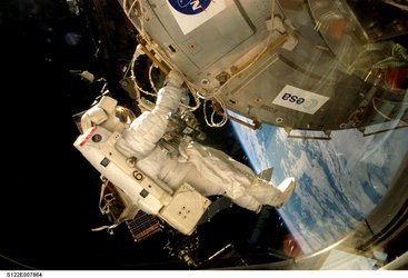 The European Columbus laboratory was installed during the first spacewalk of the STS-122 mission