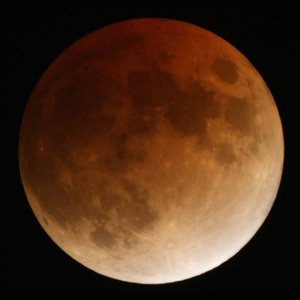 The lunar eclipse, taken from ESAC, Spain