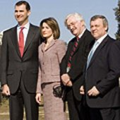 The Prince and Princess of Asturias with dignitaries