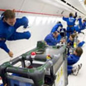 View inside 'Zero-G' aircraft