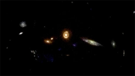Zooming into the gravitational lens 0038+4133