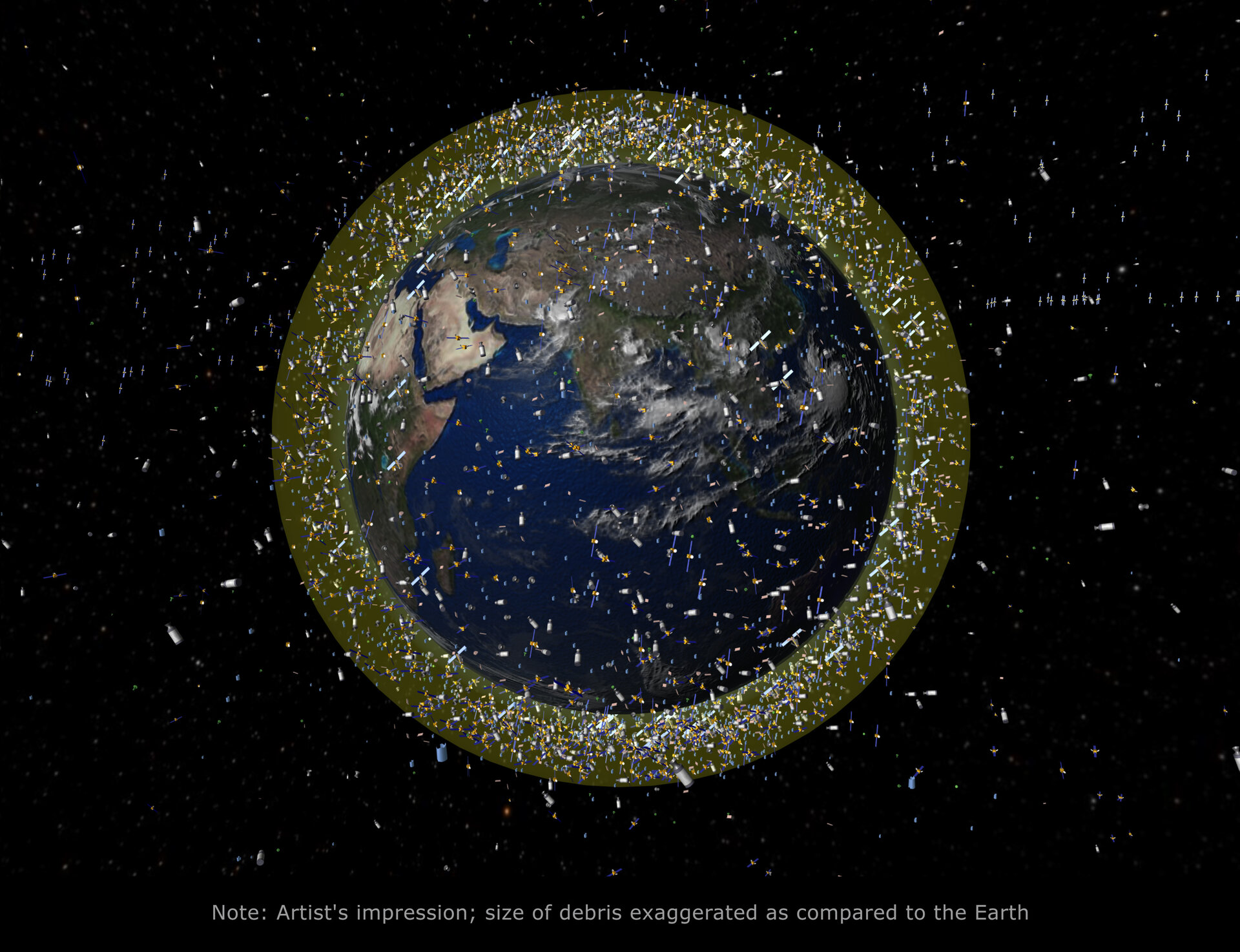 Debris objects in low-Earth orbit (LEO)