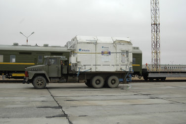 GIOVE-B arrives at Baikonur