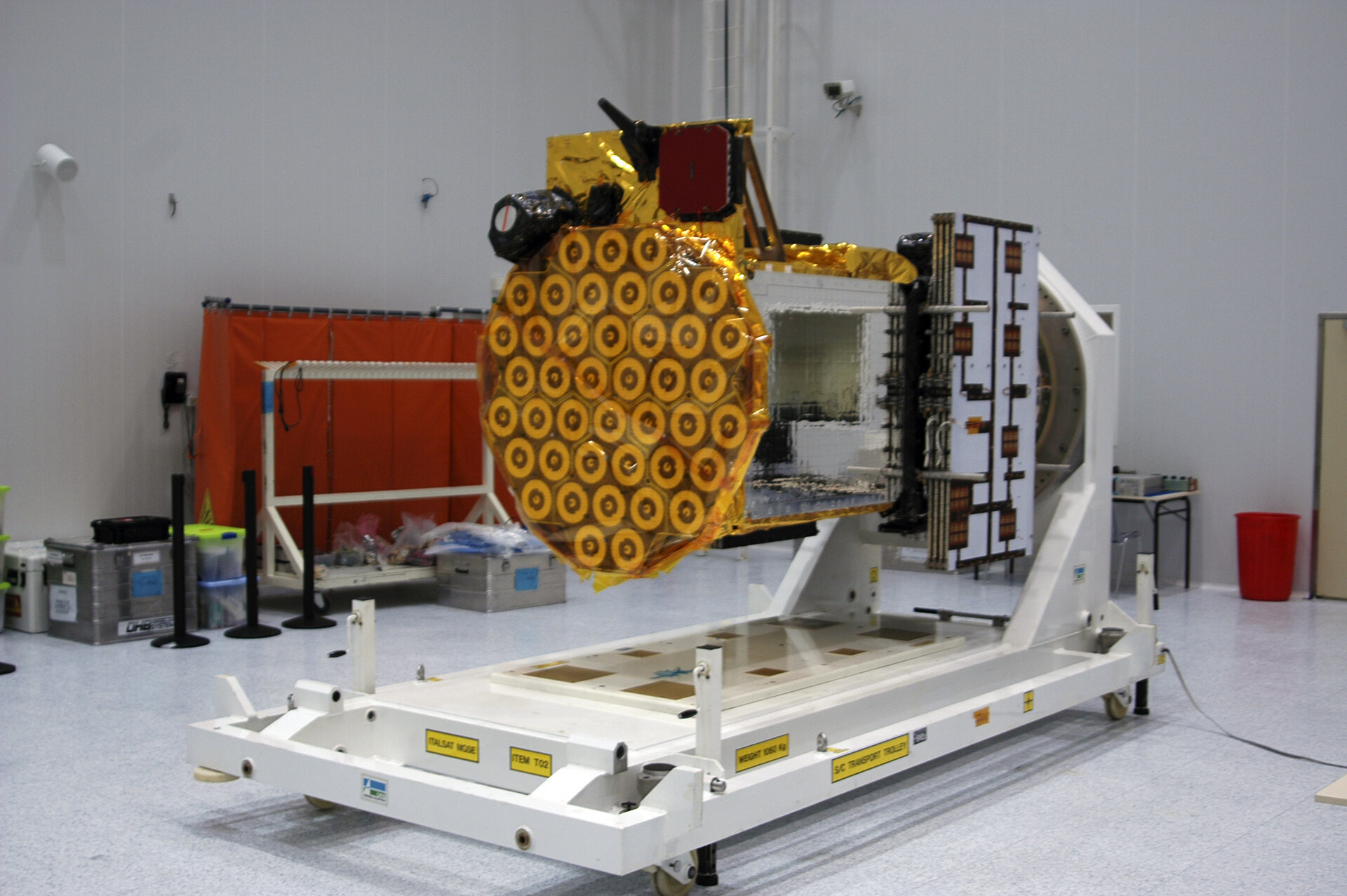 GIOVE-B in clean room